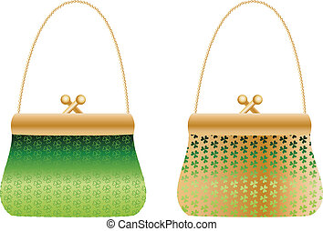 Purses with clover