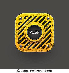 Push button icon. Vector eps10
