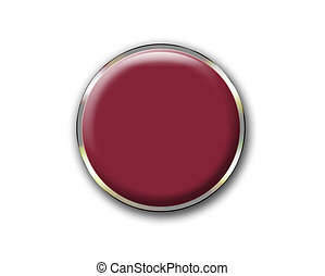 Push button isolated on white background