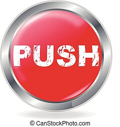 Push Button on white Background