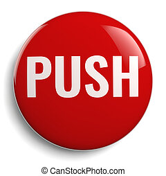 Push Button Round 3D Icon