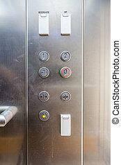 push buttons in the elevator