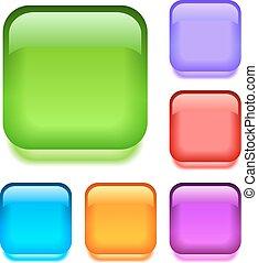 Push buttons set, eps10 vector illustration