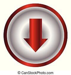 Push Down Metal Button