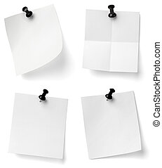 push pin and note paper office business - collection of ...