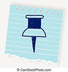 push pin doodle drawing