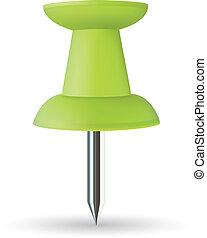 Push pin - Vector push pin, green