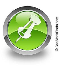 Push pin glossy icon