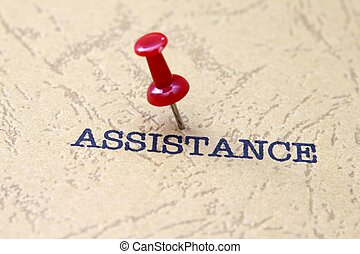 Push pin on assistance