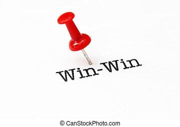 Push pin on win-win