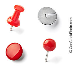 push pin thumbtack paper clip office business - collection...
