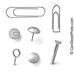 push pin thumbtack paper clip office business