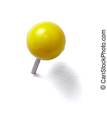 push pin thumbtack tool office business - close up of a...