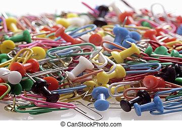 push pin thumbtack tool office bus