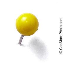 push pin thumbtack tool office business - close up of a...