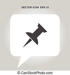 push pin vector icon
