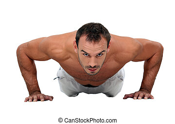 push-ups, uomo