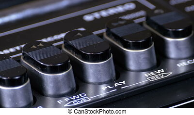 Pushing Button on a Tape Recorder, Play, Stop, Rec, ff, Rew....