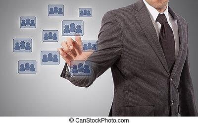 pushing social network icon