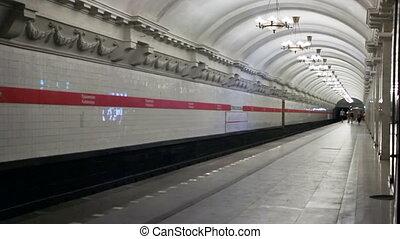 Pushkinskaya, timelapse, St. Petersburg, Russia