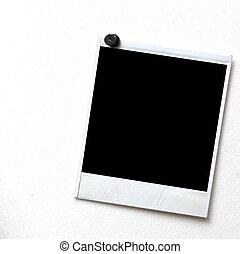 pushpin, fotokader, black , drukken, achtergrond