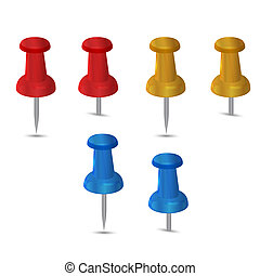 pushpin on a white background