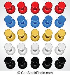 Pushpin Push Pins Colorful