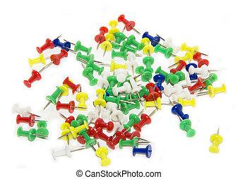 pushpins, colorido