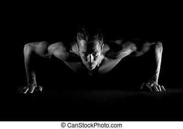 pushups, hombre