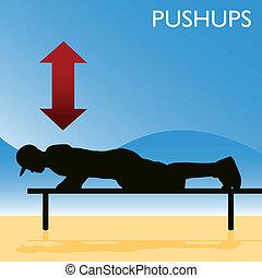pushups, uomo