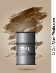 puskacső, olaj