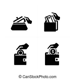 Put down money icon