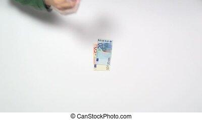 put money and pick up money