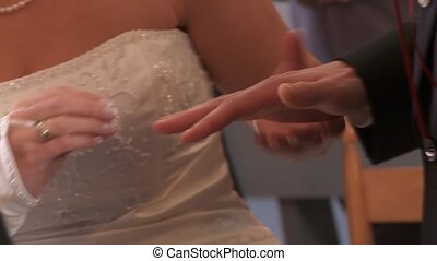 Put Ring on Finger (Wedding Couple)