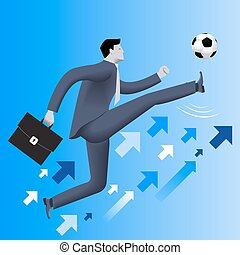 Put the ball in the game business concept