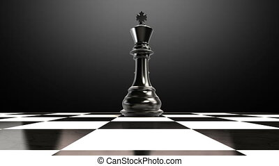 Put the Bishop on a chessboard 2 - ending Bishop, animation.