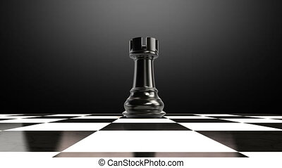 Put the king on a chessboard 2 - ending king, animation.