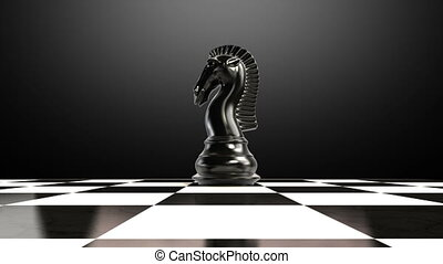 Put the pawn on a chessboard 2 - ending pawn, animation.