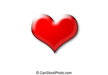 Put your comment on this heart! - 3d red heart
