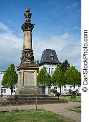 Putbus is a town on the southeastern coast of the island of Ruegen, Germany.