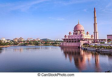 Putra Mosque in Putrajaya,Malaysia
