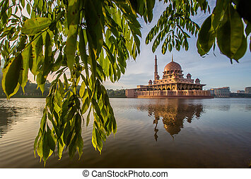 Putra Mosque, Malaysia - Putra Mosque in the morning hours,...