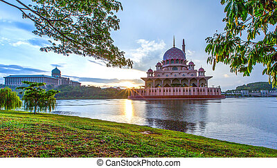 The Putra Mosque, in Putrajaya, Malaysia in the morning hours