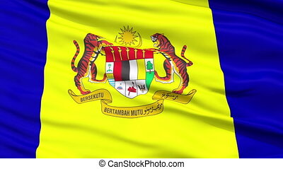 Putrajaya City Close Up Waving Flag
