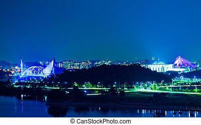 Putrajaya, Malaysia Night View - A view of Putrajaya...