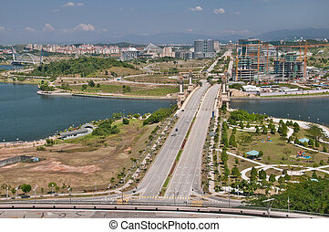 Putrajaya- the new city - View from the International...