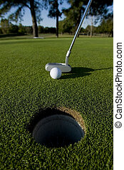 putt, court, golf