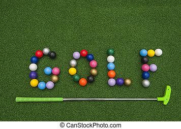 Putt Putt Balls Spell Golf