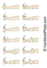 putter, technique, bandage