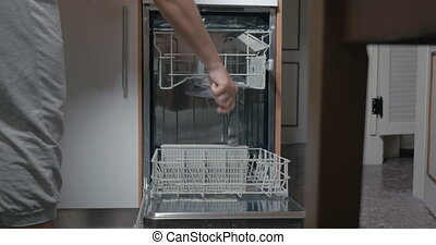 Putting Dirty Dishes into Dishwasher
